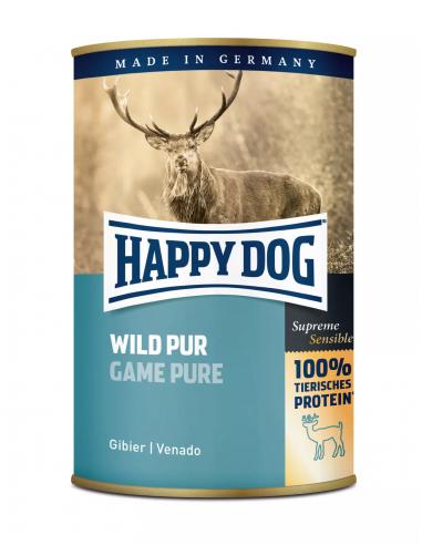 Happy Dog Boites Gibier pur 400g