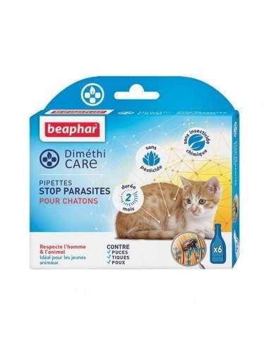 Les pipettes diméthicare Stop parasites pour chaton