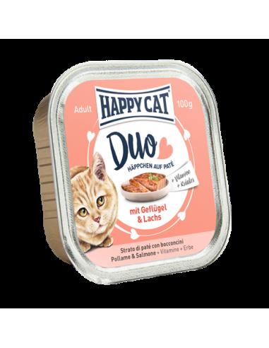 Happy Cat Pâtée Duo Volaille & Saumon 100g