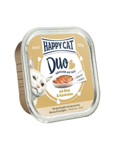 Happy Cat Pâtée Duo Boeuf & Lapin 100g
