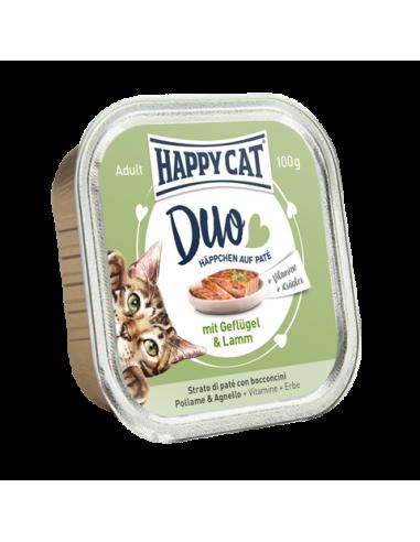 Happy Cat Pâtée Duo Volaille & Agneau 100g