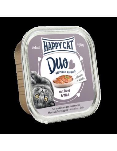 Happy Cat Pâtée Duo Boeuf & Gibier 100g