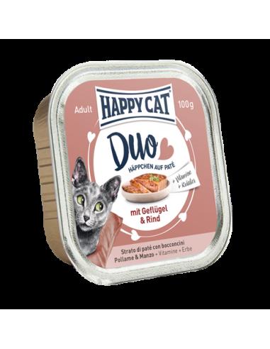 Happy Cat Pâtée Duo Volaille & Boeuf 100g