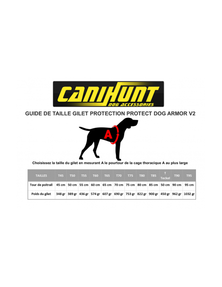 GILET PROTECT DOG ARMOR V2 CANIHUNT